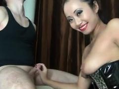 Her Handjob Skills Make For An Explosive Cumshot