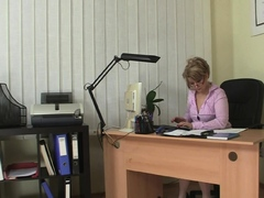 Hot Office Sex With Sexy Big Tits Mature Boss