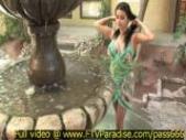 Alexa Loren,  from ftv girls,  amazing brunette babe near a fountain
