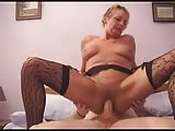 British Milf in Stockings Fucks