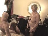 Hot curvy mature blondes tag team bang