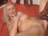 Hottie taking a black cock in her ass