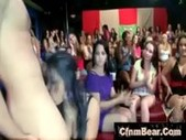 Wild cfnm girls go mad sucking cfnm stripper cock