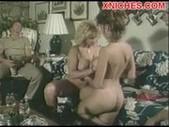 Threesome fuck in livingroom