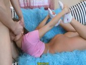 Flexible teen gets properly banged