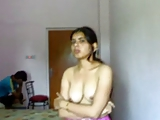 Indian Slut Strips in front of Brother