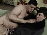 British MILF in stockings gets fucked by fat bloke