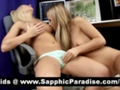 Superb Blonde Lesbians Licking And Toying Pussy And..