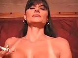 Hot Busty Smoking Mature Brunette Rides Cock
