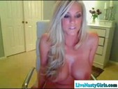 Hot Blonde Naked Big Tits On Webcam!!
