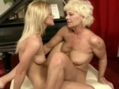 Granny And Cute Teen Making Love