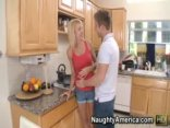 Milf Erica Lauren Takes On Sucking Cock And Having Her Pussy Drilled In The Kitchen