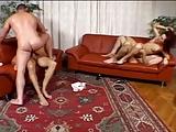 2 girls 3 men having fun