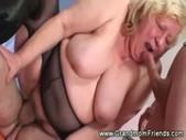 Horny granny threesome
